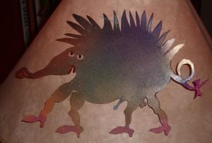 T. Hueckel: Hedgehog (endowed), may, 2011,